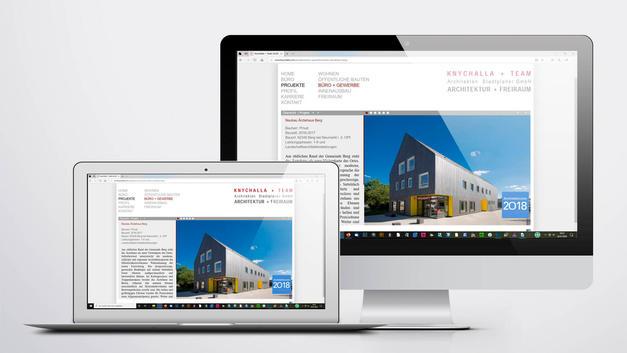 Architekturfotografie: Website der  Knychalla + Team Architektur und Freiraum