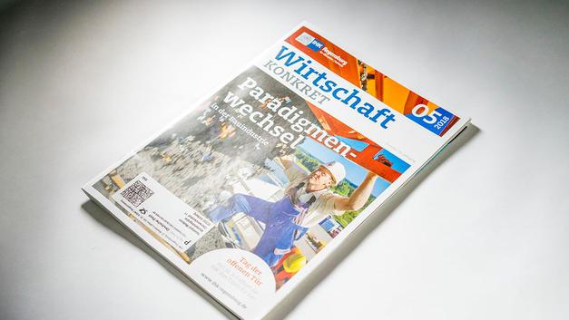 Industriefotografie: Veröffentlichung auf Titelseite der IHK Mitgliederzeitschrift Regensburg / Oberpfalz