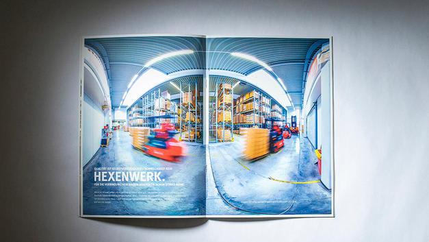 Industriefotografie: Veröffentlichung in Firmenbroschüre | Hammerbacher GmbH