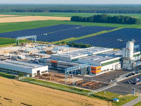 Drohnen-Luftbild: Produktionsstandort Klebl Frankenförde