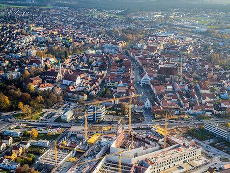 Drohnen-Luftbild: Bau des Neuer Markt in Neumarkt i.d. OPf.