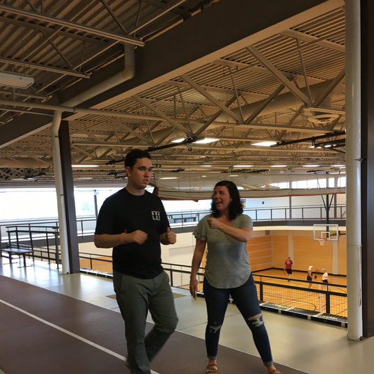 BB and Candice indoor walking track 1.jp