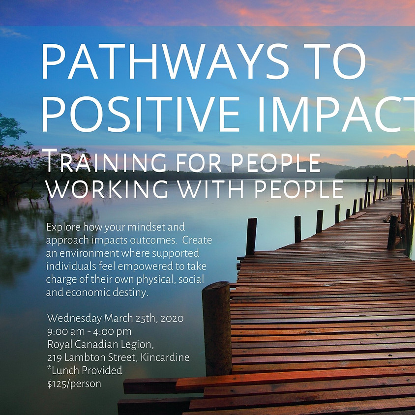 Pathways to Positive Impact - Training for People Working with People