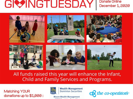 Giving Tuesday In Support of Infant, Child and Family Services - Dec. 1, 2020