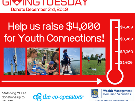 Giving Tuesday - Raising Funds for our Youth Connections Program