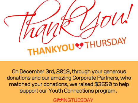 Thank You for Supporting Youth Connections!