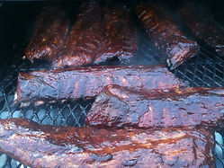 ribs on smoker for dinner service