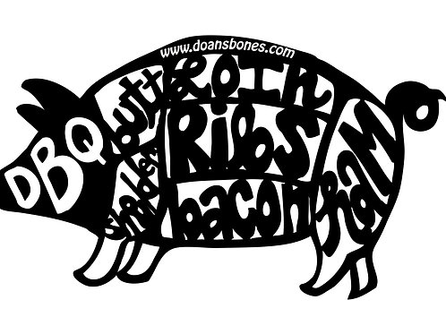 T Shirt pig cut logo