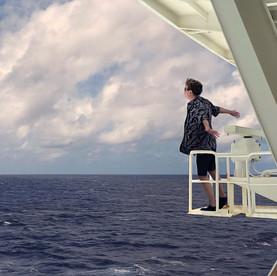5th day at sea, cruise ship to Hawaii.