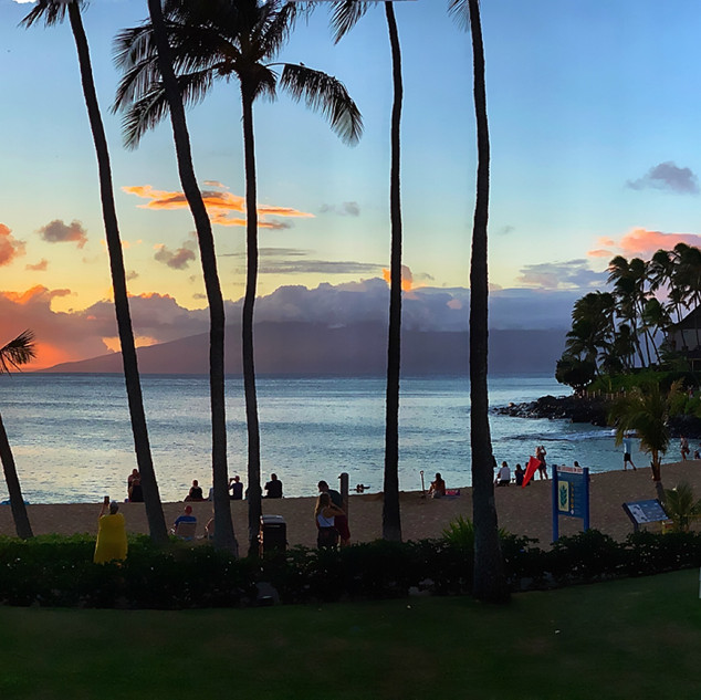 Sunset at Napili Kai Beach Resort_