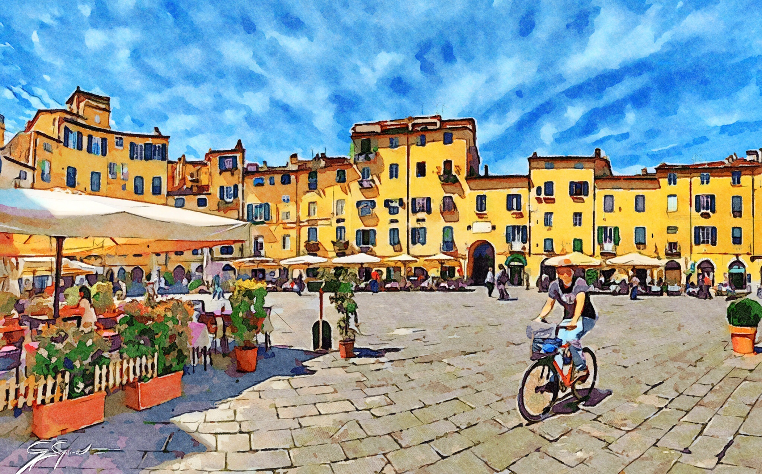 Piazza in Lucca_