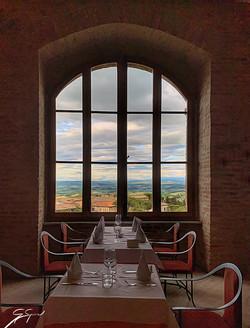 Dinner in San Gimignano_