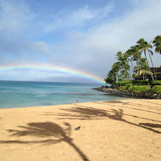 Napili Bay beach, early morning after a rain.  Maui.