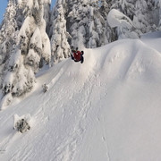 Jump and flip.  Grouse Mountain.