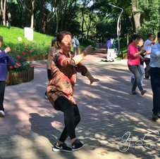 Tai Chi in the park, Haidian, Beijing.
