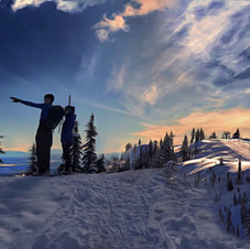 Seymour Mt. snowshoe hike.