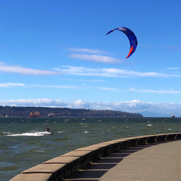 Wind surfing, English Bay, Vancouver.