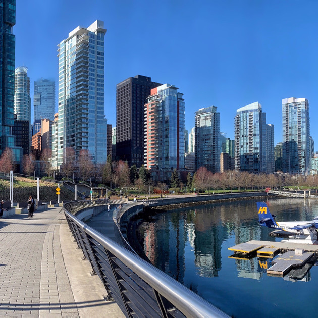Vancouver, city by the sea.  Coal Harbour.