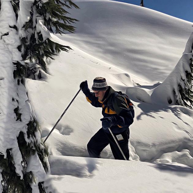 Snowshoe hiking, Seymour Mt., Vancouver.