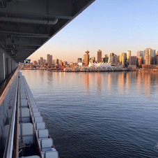 Entering Vancouver harbour on cruise shi