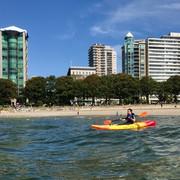 Kayaking, English Bay, Vancouver.