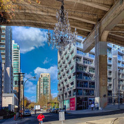 Chandelier under Granville St. Bridge, Vancouver.