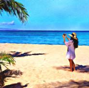 Maui Girl.  Napili Beach_