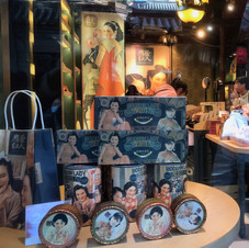 View through shop window.  Beijing.