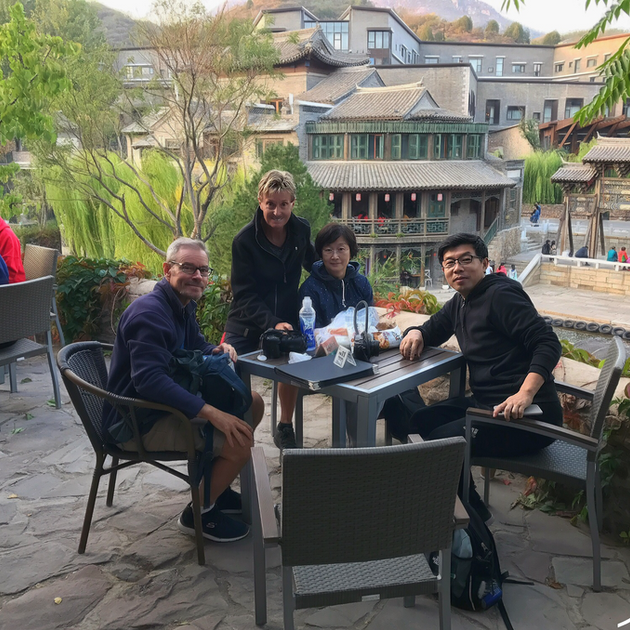 Outdoor cafe, in the mountains near Beijing.