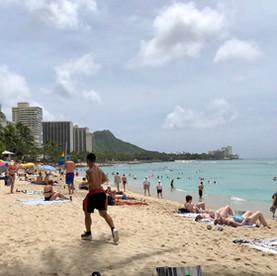 Waikiki beach, Honolulu.