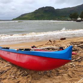 Beach in Kauai, Hawaiian island.