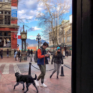 View from cafe window, Gastown, Vancouver.