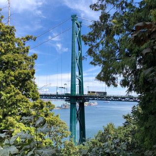 Lions Gate Bridge, viewed from Prospect Point.  Vancouver.