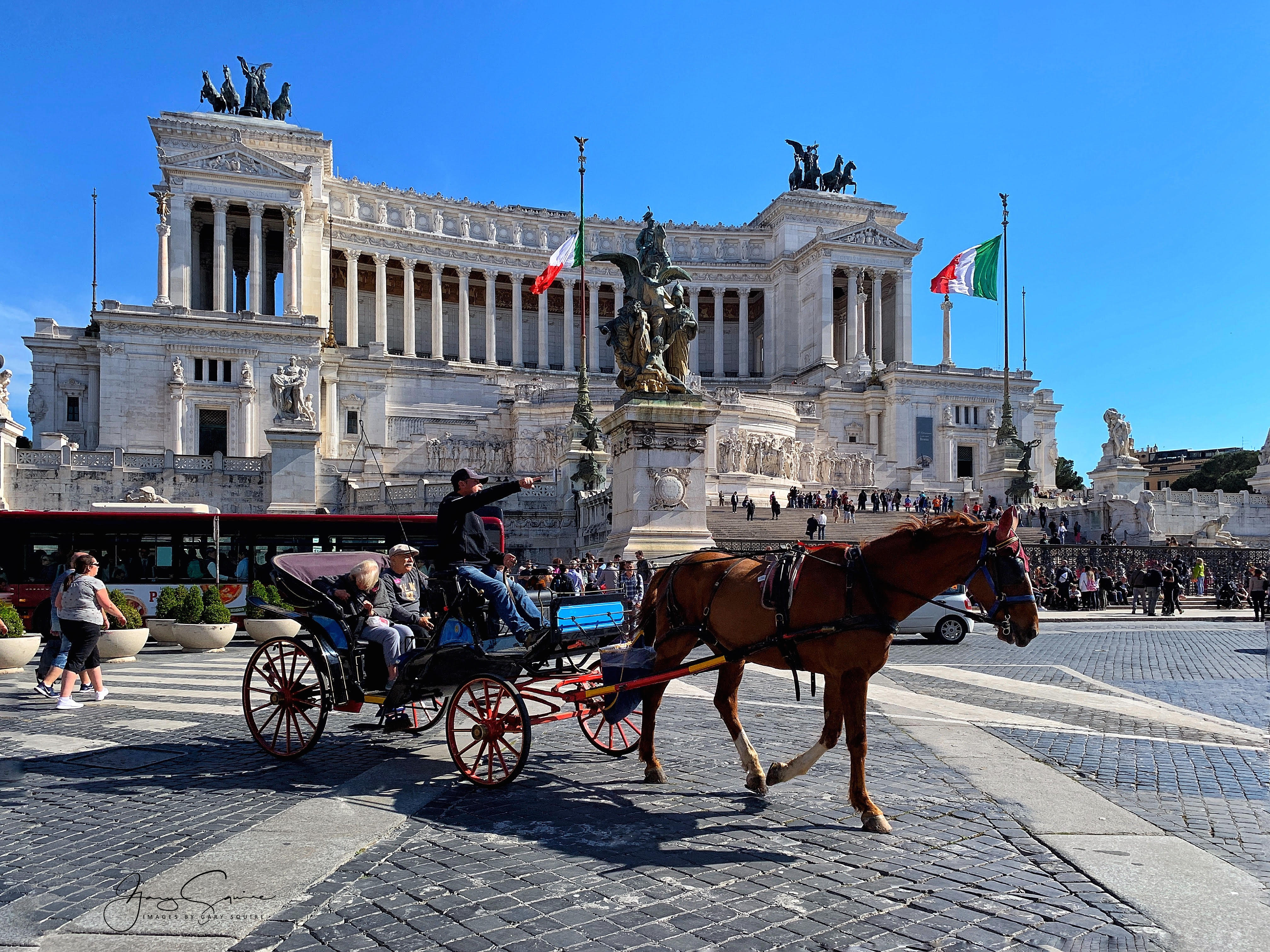 Horse Drawn Carriage, Rome