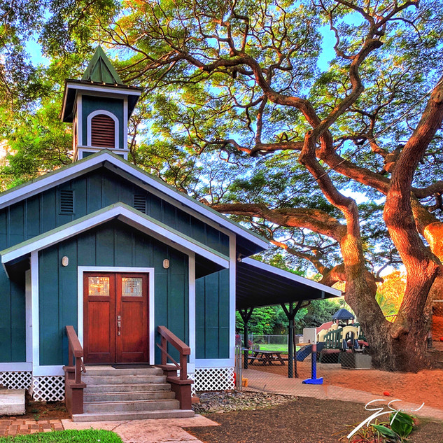 Old church, now Pre-School, Kapalua, Mau