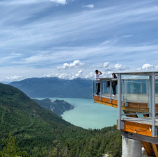View from the top. Sea to Summit, Squamish.