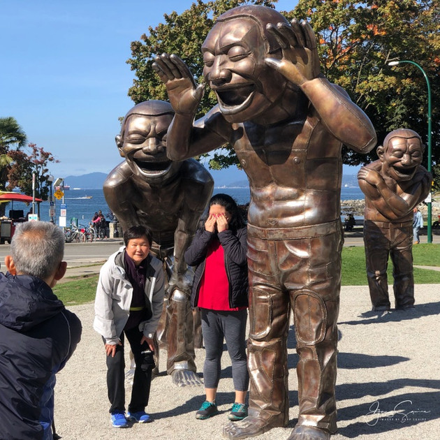 The Laughing Men, English Bay, Vancouver.