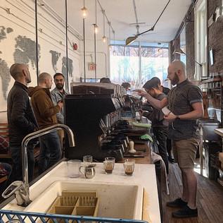 Gastown coffee shop.