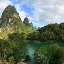 View from hotel room in Yangshuo, southern China.