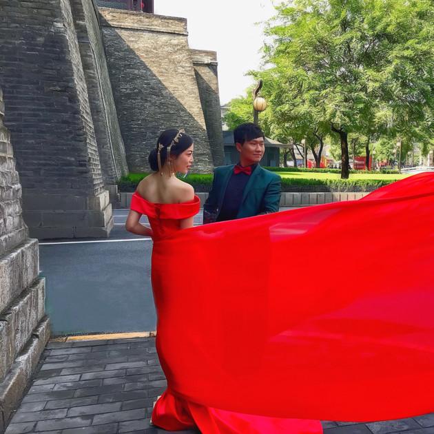 Just married. Xian, China.