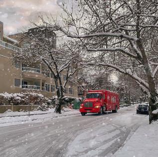 Coca Cola truck, West End, Vancouver.