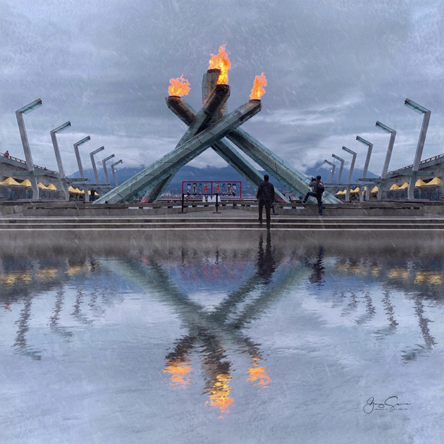 Jack Poole Plaza, 10th anniversary of Vancouver Winter Olympics.