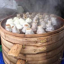 Steamed dumplings.  China