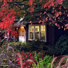 Park office in Stanley Park. Autumn.