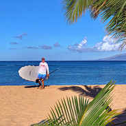 Paddle Boarder, Napili Beach_