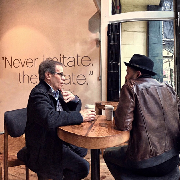 Coffee shop chat, Gastown, Vancouver.