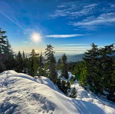 Seymour Mt., Peak 1, Sunset_