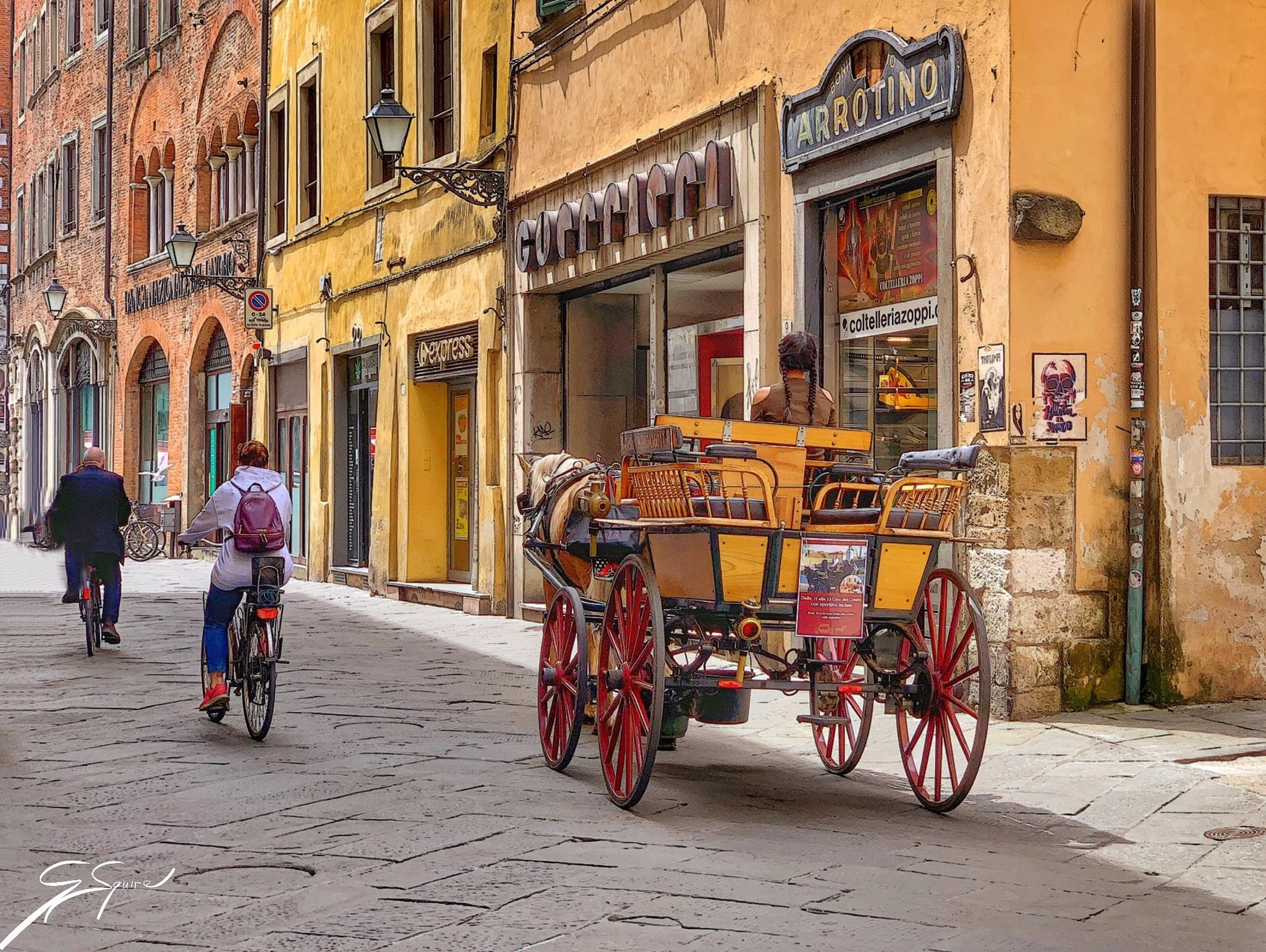 Lucca street scene_