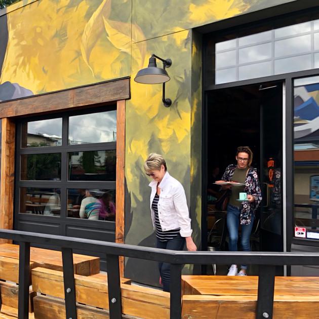 Popular coffee shop. Vancouver.