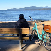 Resting awhile at the beach, Vancouver.